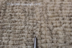 Carpet texture difference at seam