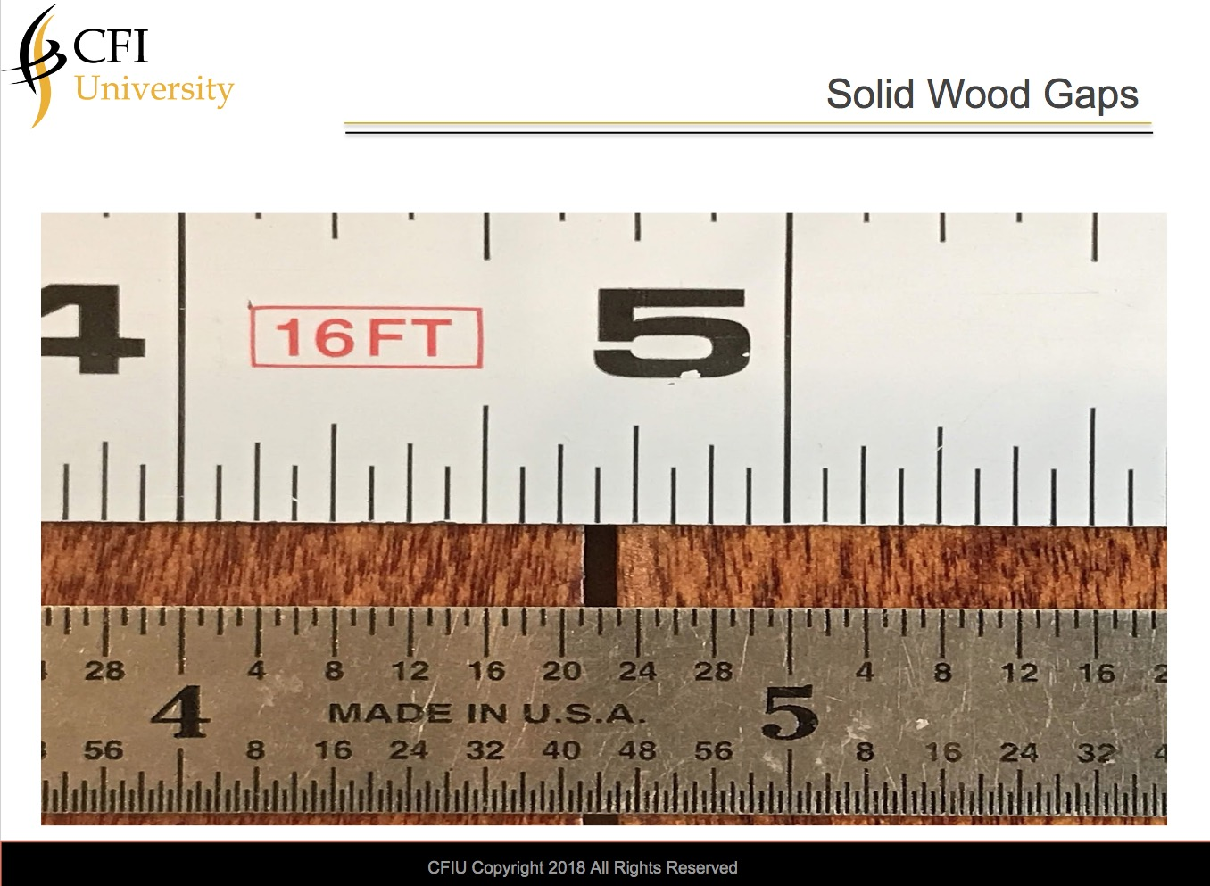 Solid Wood Gapping-Advanced Course