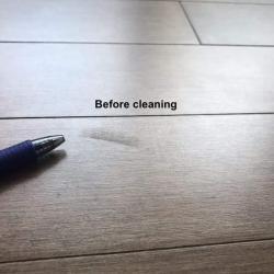 Spots on wood flooring